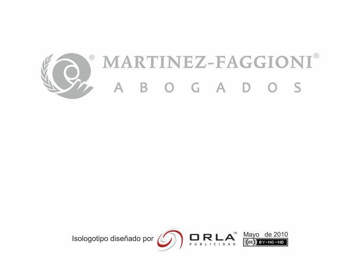 Diseño de isologotipo para el estudio Martinez Faggioni, el cual   realiza actividades solidarias atendiendo casos de dificultosa resolución, apuntando siempre a la defensa de los derechos esenciales del ser humano. Para su diseño se tuvieron principalmente en cuenta estos valores e ideas directrices. CABA - Argentina - 2010