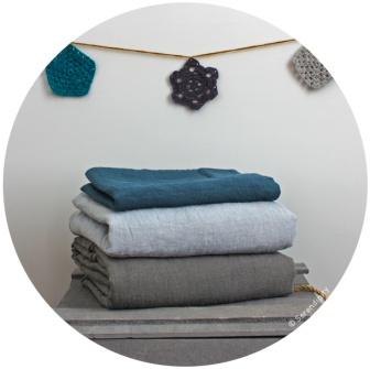 parure lin stone washed bleu serendipity