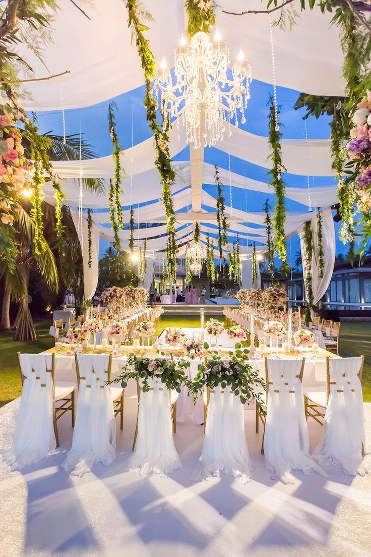 Soft, Romantic, Rose-Filled Wedding at Sava Luxury Villas Natai Beach, Phuket, T…
