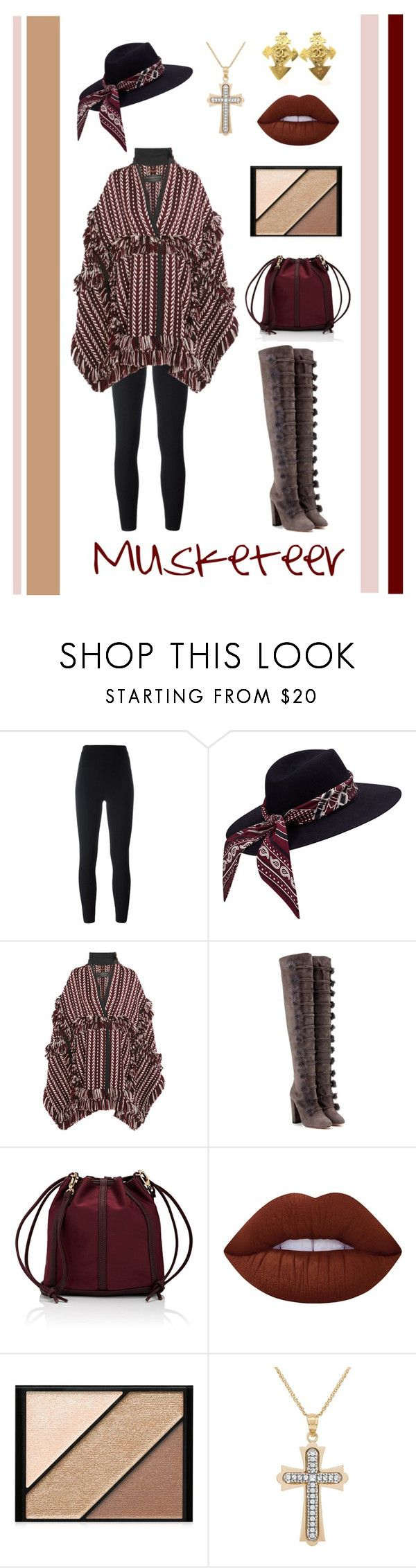 """Musketeer"" by belen-cool-look ❤ liked on Polyvore featuring Yeezy by Kanye West, Burberry, Aquazzura, Deux Lux, Lime Crime, Elizabeth Arden, Lord & Taylor and Chanel"