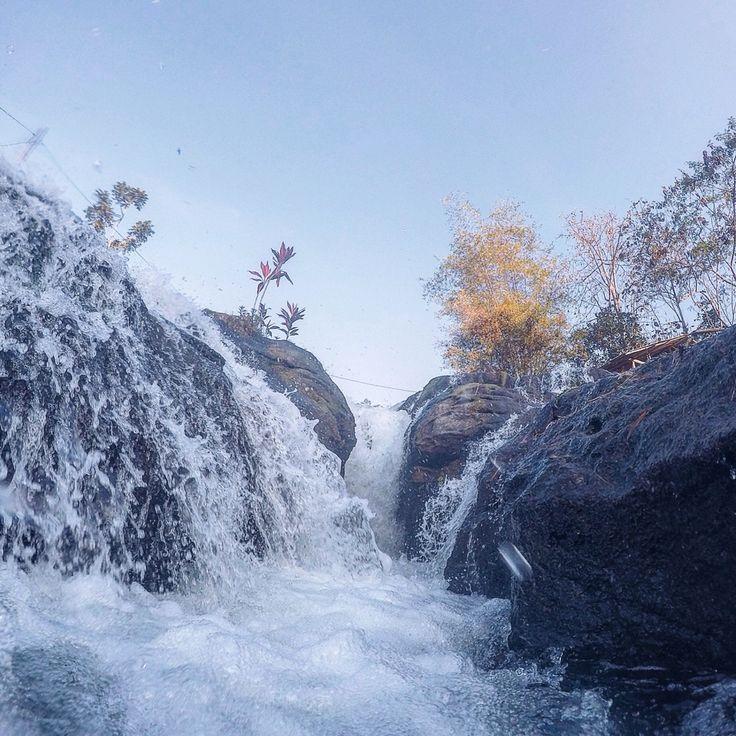 Maroon waterfall, malang, east java-indonesia