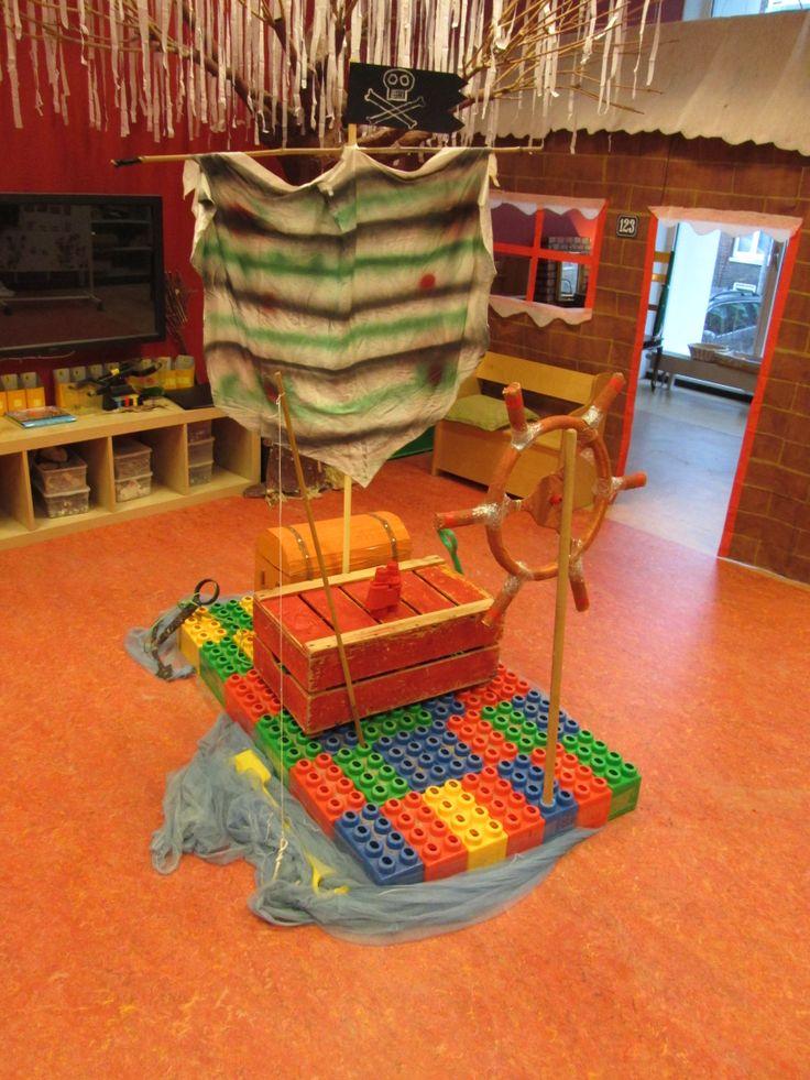 Themahoek piratenvlot Nutsschool Maastricht
