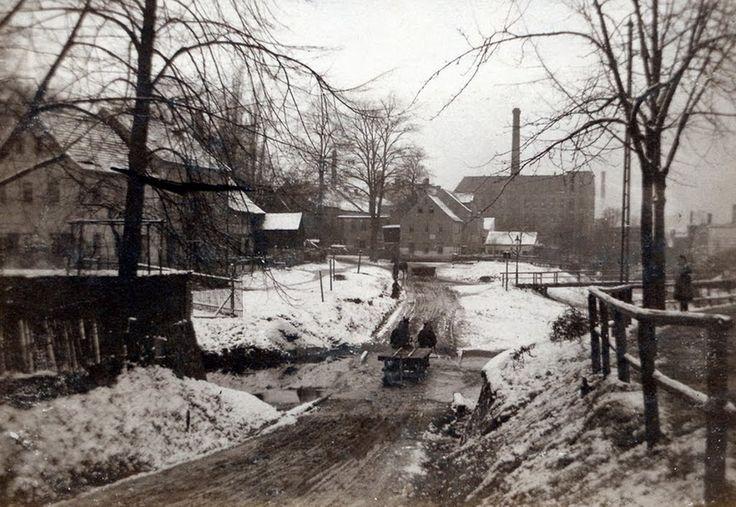 1920 Crimmitschau - Ortsteil Wahlen, Fluß Pleiße, Sachsen. ☺