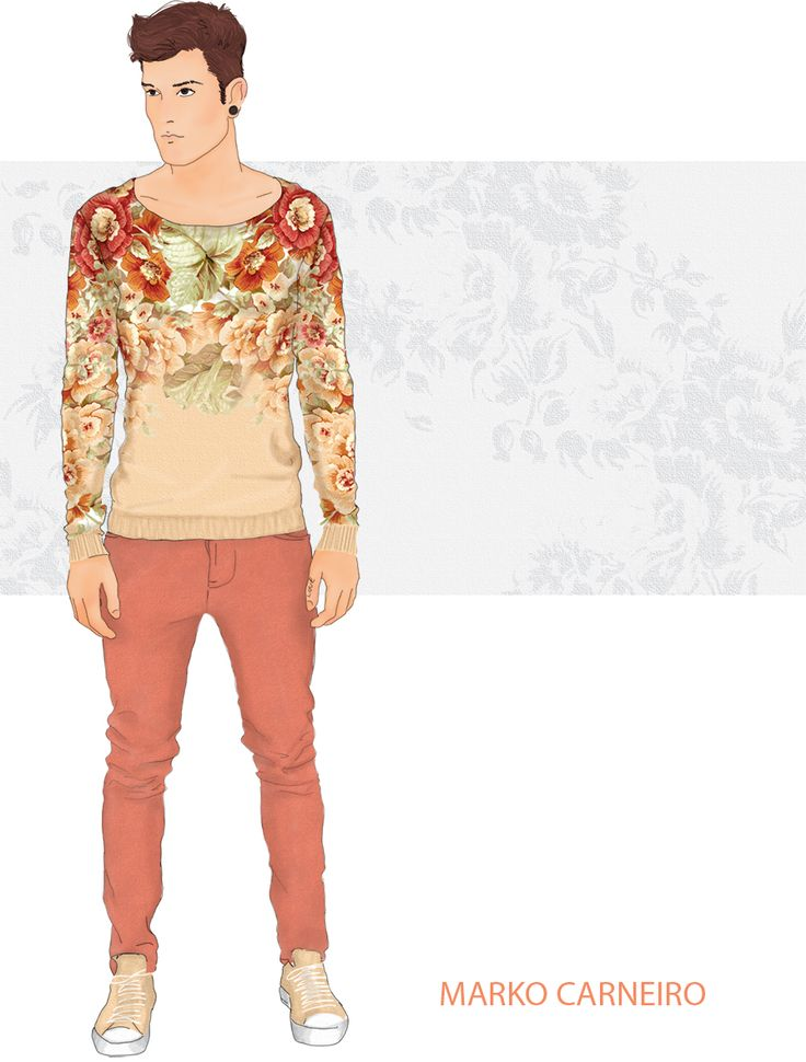 Unusual color and floral. Yes, men can also dare.