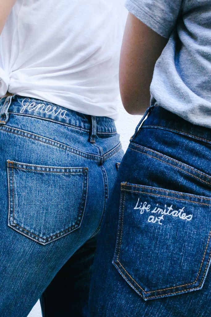 If denim is as close to a second skin for you as it is for me, then embroidering your jeans is the needle and thread equivalent of getting inked up – only without the lifetime commitment. We've been s