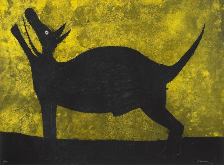 """""""Perro (Dog)"""" de """"Rufino Tamayo, 15 litografías"""", litografía en colores sobre papel vitela 22 1/8"""" x 29 7/8"""", 1973"""