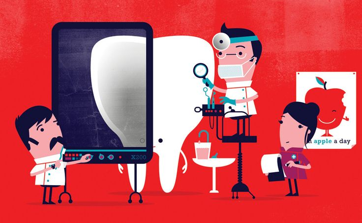 Spencer Wilson - Illustration for Which Magazine Tiphaine-illustration  #dentist #teeth #doctor