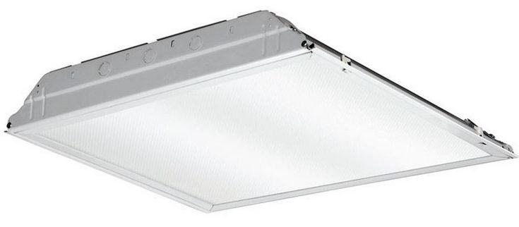 "Lithonia Lighting 217NXV LED Fluorescent Troffer Fixture, 24"", White"