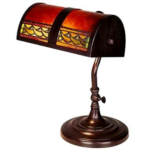 $199 + shipping. Arts & Crafts Stained Glass Bankers Desk Lamp