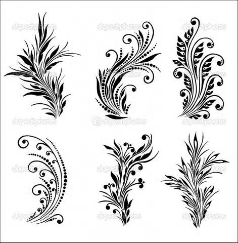 victorian scroll patterns & flourishes