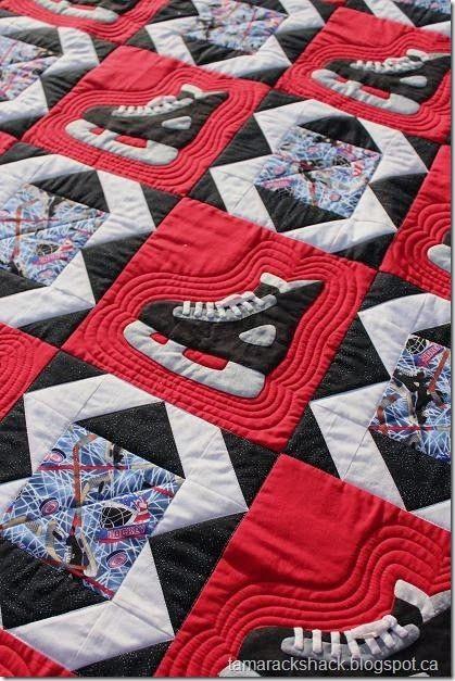 Hockey Skate quilt