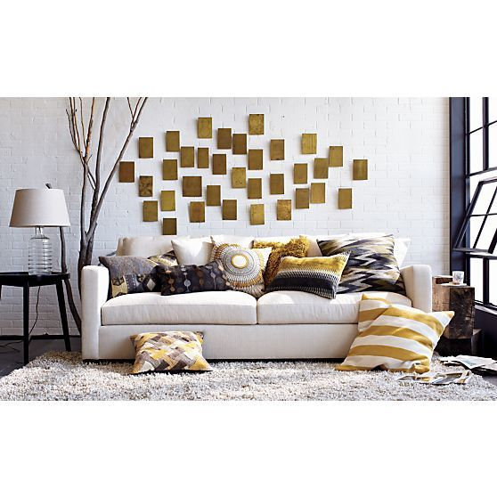 Verano Sofa In Sofas | Crate And Barrel Love The Muted Yellow And Gray  Color Palate