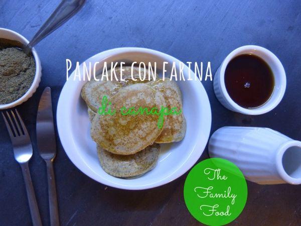 Pancake con farina di canapa gluten free