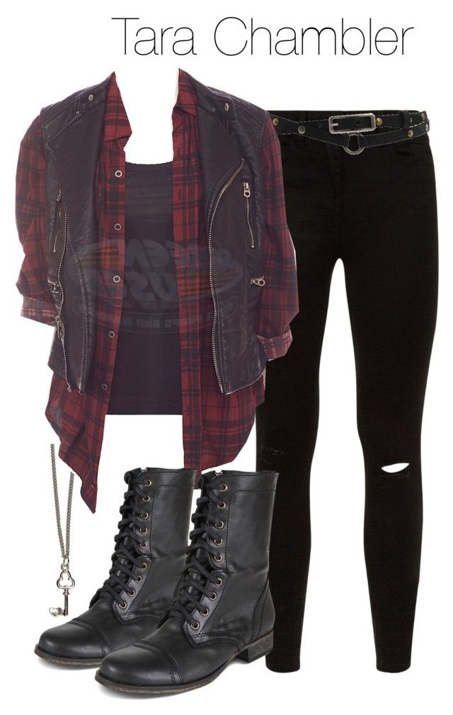"""Tara Chambler - twd / the walking dead"" by shadyannon ❤ liked on Polyvore featuring River Island, Roxy and Steve Madden"