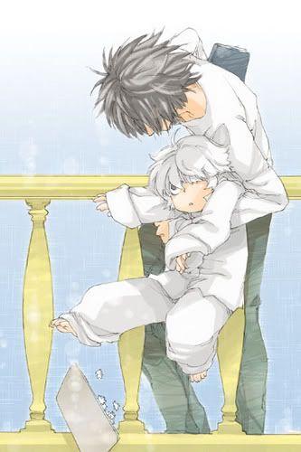 Death Note  L, Near. So adorable.