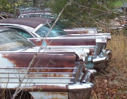 Albuquerque Salvage Yards >> Pretty Oldsmobiles ('58's) all in a row. | Junkyard | Pinterest | Beautiful, Classic and Search