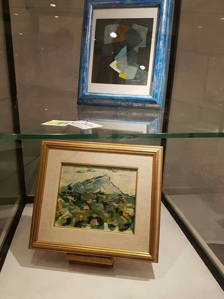 Due pregevoli opere Una del maestro RENZO VENEZIA  l'altra di MARGHERITA CONZI CAPURRO, artista che fece parte del gruppo 10 di Genova
