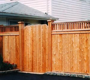 Custom Routered Cedar Fence. Gothic Top fence. Custom Cedar Fence, American made, Made In America, American installed fence, Amish railing, Cedar Fence, Wood Fence, Custom Cedar Fence, White Cedar Fence, Red cedar fence, Dual entranceway, Magna Latch, Pool Fence, Sign Posts,Superior Installers, Quality Installations, Best fence installers on long island, Walk Gates, Drive Gates, Driveway Gates, Gates, Fence with doors, PVC Corner Accent, Landscaping fence, white vinyl fence, Landscaper, ...