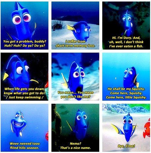 nemo dori quotes | Dory Finding Nemo Quotes Squishy Dory quotes.