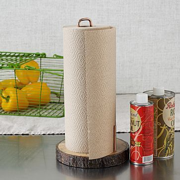 Raw Wood Paper Towel Holder #WestElm  yes, I pinned a paper towel holder.