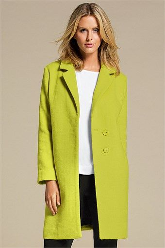 """The Capture Coat. Nothing says """"f* you winter!"""" like chartreuse or red!"""