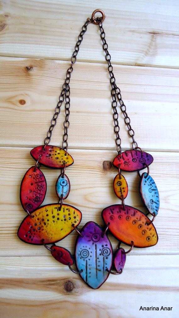 Anarina Anar - Polymer clay necklace