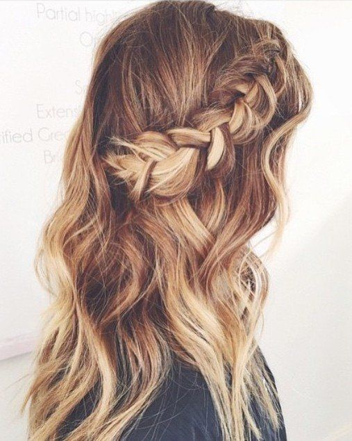 Side braid half up half down