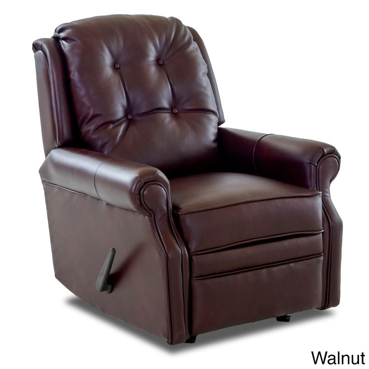 Klaussner Furniture Sand Key Leather Reclining Rocking Chair (Sand Key Leather Reclining Rocking Chair-