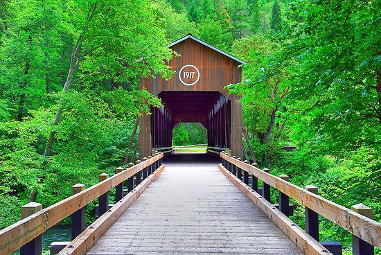 McKee Covered Bridge, Jacksonville, Oregon, picture by Jennifer Hulbert-Hortman