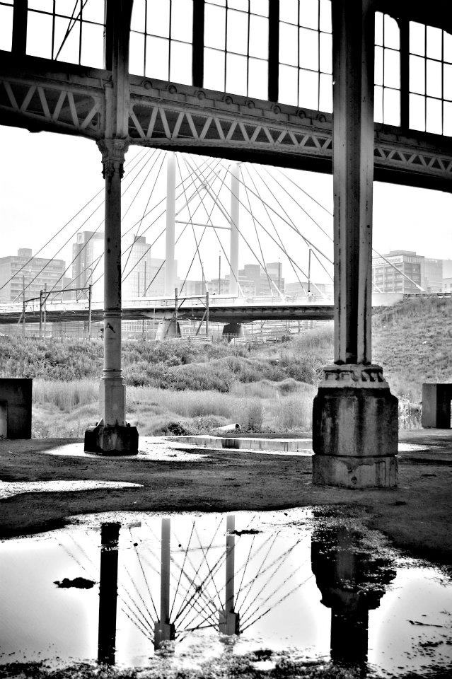 Nelson Mandela bridge, Johannesburg.  One of my most favourite photos I've taken!