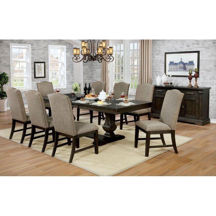 Gracie Oaks Johannes 9 Piece Extendable Dining Set Wayfair Dining Table Dimensions Dining Room Sets Espresso Dining Tables