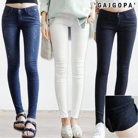 Gmarket - Skinny jeans / denim / coated / ankle length / basic /...