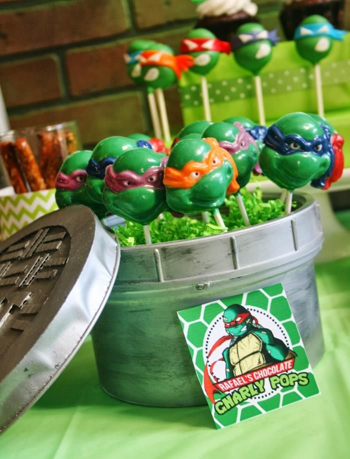 301 Best Tmnt Themed Room Party Images On Pinterest