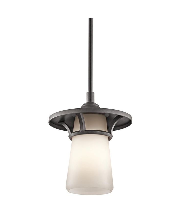 Lura Outdoor Pendant 1 Light shown in Anvil Iron by Kichler Lighting - 49373AVI