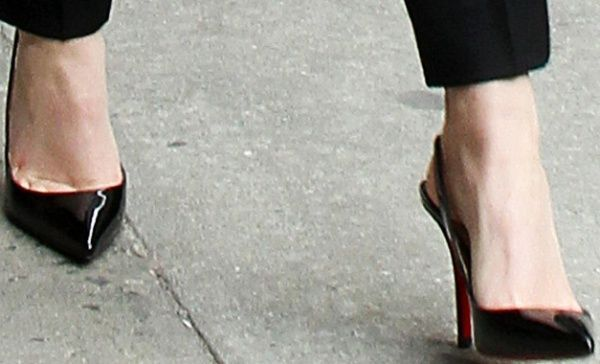 buy popular f7a70 2c86a Emma Watson wears Christian Louboutin Apostrophy Sling pumps ...