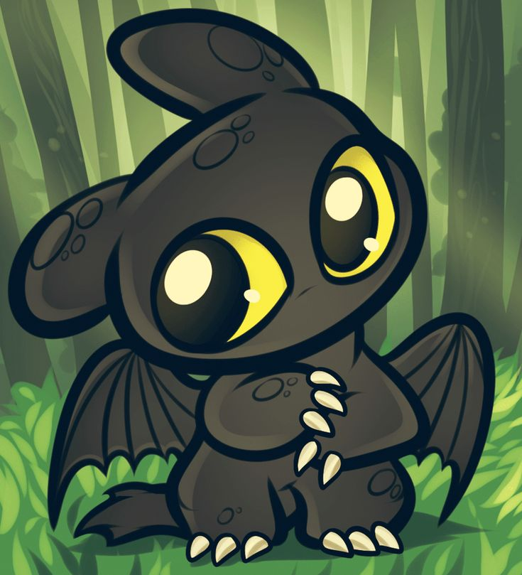 Chibi Toothless, How to Train Your Dragon by =Dragoart on deviantART