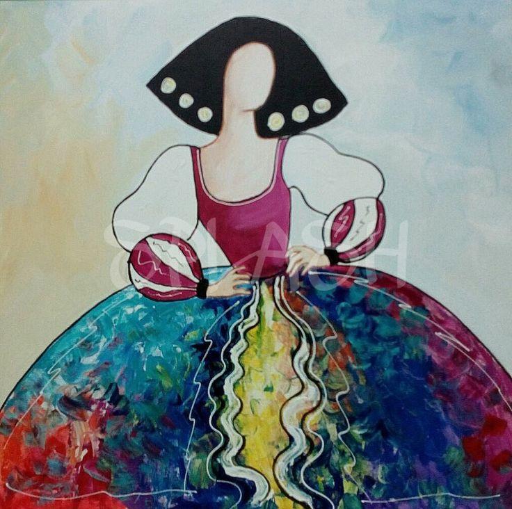 Menina magenta con colores SP784 #cuadros de meninas # cuadros meninas modernas #cuadros decorativos # cuadros baratos# cuadros económicos #cuadros para salón # cuadros para sofás #cuadros para dormitorios # cuadros splash