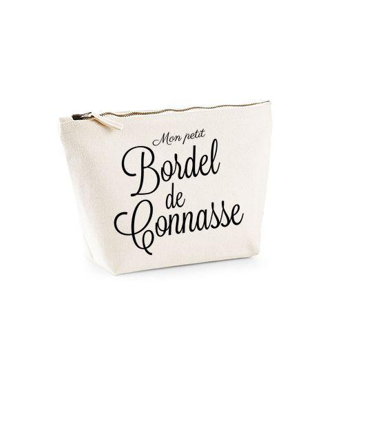 Trousse en coton brossé spécial Madame Connasse. Paiement 100% sécurisé par carte bancaire.