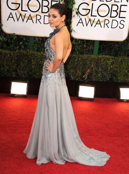 mila Kunis Golden Globe 2014 - kjolene og kjendisene på rød løper. Se bilder! #milakunis #goldenglobe More at http://stylista.no/