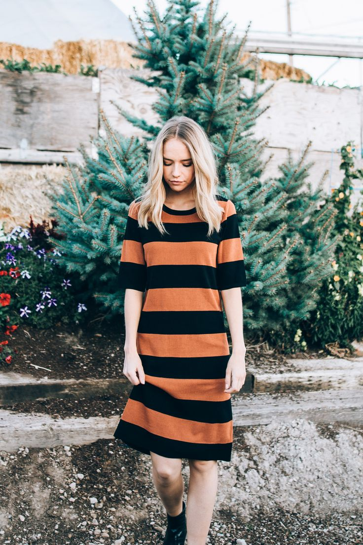The Transport Stripe Pencil Dress