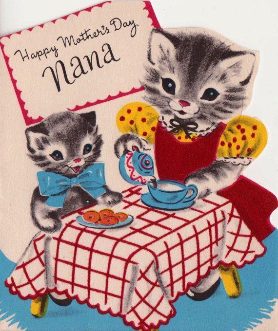 Vintage 1950s Happy Mother's Day Nana by poshtottydesignz on Etsy