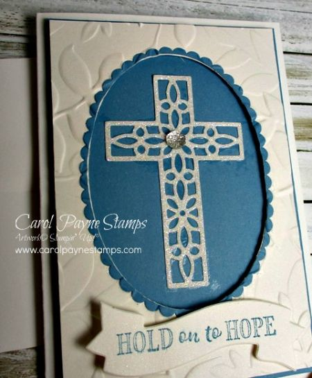 Stampin' Up! Hold on to Hope note card sized. #diy #handmade #handmadecards #stampinup #papercraft #papercrafting #alaska #carolpaynestamps