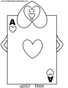 Alice In Wonderland Card Soldiers Printable Cutout