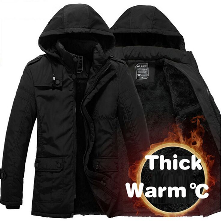 Winter Jacket Men Thickening Casual Cotton Jackets Waterproof Windproof Breathable Coat mens 2017 New parka Brand clothing
