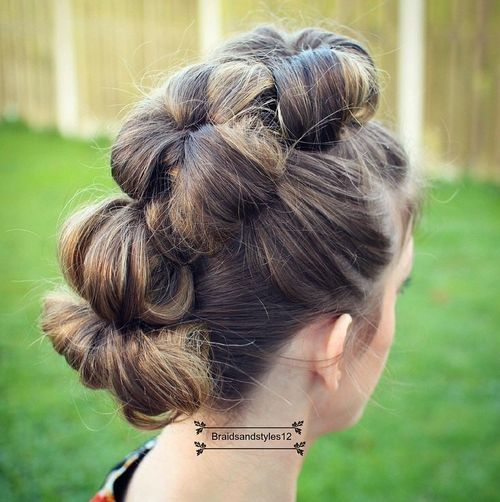 pony hair styles best 25 formal bun ideas on bridesmaid hair 2175