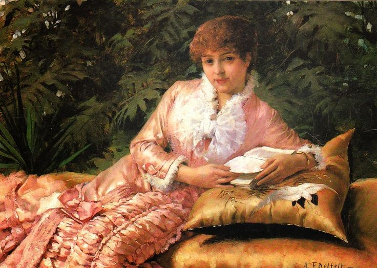 Albert Edelfelt - Lukeva pariisitar 1880