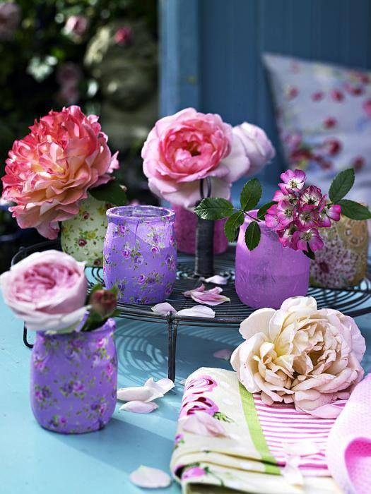 les 45 meilleures images du tableau diy pot de yaourt en verre recyclage sur pinterest pots. Black Bedroom Furniture Sets. Home Design Ideas