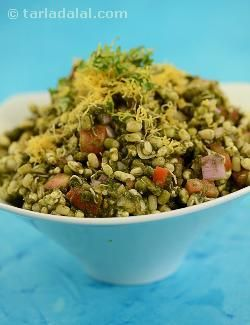 Bhel needs no introduction! this all-time favourite road-side snack has been transformed into a tasty and healthy protein-rich snack that provides only 160 calories without compromising on the taste. All the fried and high-calorie ingredients have been replaced with low-calorie alternatives, such as baked puri, page…, and sev, page…. Adding moong sprouts packs this snack with much-needed proteins. Go ahead and savour this snack without hustling your conscience.
