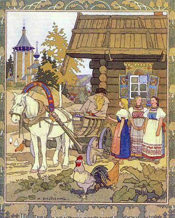 Ivan Yakovlévitch Bilibine ( 1876 - 1942 ) fut un artiste nomade, illustrateur, peintre, caricaturiste et créateur pour le théâtre de costumes et de décors.