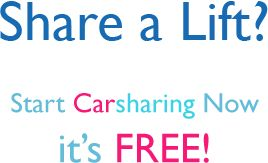 Share A lift? Start Carsharing now! 27% of DCU students said they wouldn't mind sharing a car on their way to DCU.